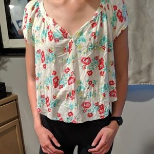 Hollister floral shirt